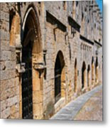 Medievil Town In Rhodes Metal Print by Sandra Bronstein