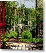Meditation Garden Metal Print