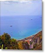Mediterranean View Metal Print