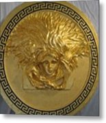 Medusa Gold Plated Metal Print