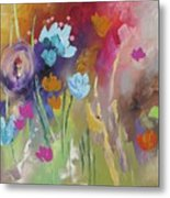 Meet Me In The Garden Metal Print
