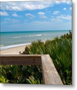 Melbourne Beach In Florida Metal Print