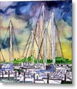 Melbourne Florida Marina Metal Print