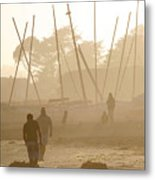 Men And Marina Metal Print