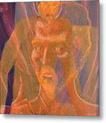 Mephistopheles And Faust The Deal Is Made Metal Print