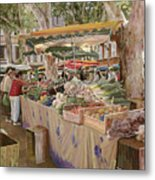 Mercato Provenzale Metal Print by Guido Borelli