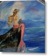 Mermaid Rainbow Wishes Metal Print