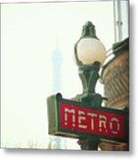 Metro Sing Paris Metal Print by Gabriela D Costa