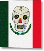Mexican Flag Of The Dead Metal Print