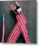 Mexican Folk Art Cat Metal Print