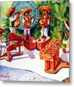 Mexico Mariachis Metal Print