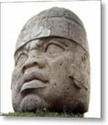 Mexico: Olmec Head Metal Print