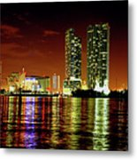 Miami At Night -1 Metal Print