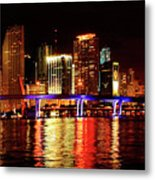 Miami At Night -2 Metal Print