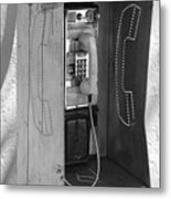 Miami Pay Phone Metal Print