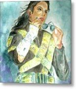 Michael Jackson - Dangerous Tour  Metal Print by Nicole Wang