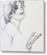 Michael Jackson - In 2001 Ny Metal Print