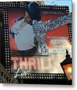 Michael Jackson Musical Metal Print