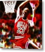 Michael Jordan Magical Dunk Metal Print