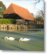Michelham Priory Barn Metal Print