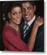 Michelle And Barack Metal Print by Diane Bombshelter