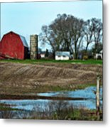 Michigan Farm Metal Print