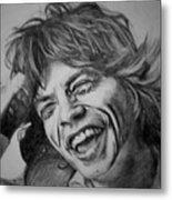 Mick Jagger Portrait Metal Print