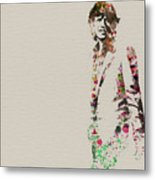 Mick Jagger Watercolor Metal Print by Naxart Studio