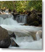 Middle Provo River Cascade Metal Print