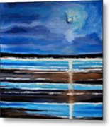 Midnight At The Beach Metal Print