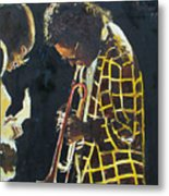 Miles Davis And A Guitar Player  Metal Print