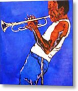 Miles Davis-miles And Miles Away Metal Print by Bill Manson