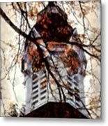 Milford Clock Tower Vintage Metal Print by Janine Riley