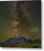 Milky Way Over Mount St Helens Metal Print