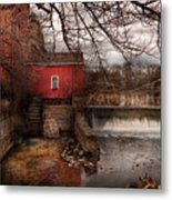 Mill - Clinton Nj - The Mill And Wheel Metal Print