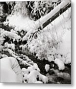 Mill Creek Canyon In Winter Metal Print