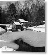 Mill On Ice Metal Print