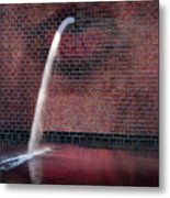 Millennium Park Fountain Chicago Metal Print