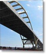 Milwaukee Under The Hoan Bridge Metal Print