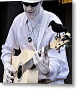 Mime And Guitar Metal Print