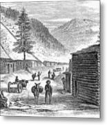 Mining Camp, 1860 Metal Print