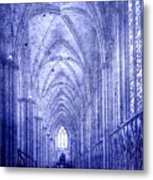 Minster In Blue Metal Print