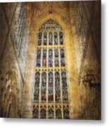 Minster Window Metal Print