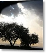Mirrored Sunset Metal Print