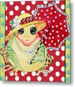 Miss Belle Frog Metal Print