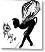 Miss Fifi Is Given Wings Metal Print