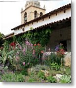 Mission Bells And Garden Metal Print