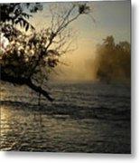 Mississippi River Foggy June Sunrise Metal Print