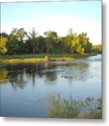 Mississippi River Lovely Dawn Light Metal Print