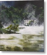 Mist On Derwent Water Metal Print